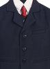 Navy Blue Single Breasted Dress Suit 5 Piece Boys (3710)