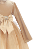 Gold Velvet & Glitter Tulle Girls Christmas Holiday Dress (C994)