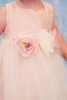 Silk & Tulle Baby Dress in White, Ivory or Dusty Rose (135)