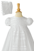Venise Lace on 100% Cotton Handmade Christening Gown (CO08GS)