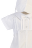 Pleated Poly Cotton Christening Romper Baby Boys (LIAM)