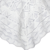 Knit 100% White Acrylic Quality Shawl Blanket Infants (ASHAWL)