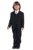 Black Single Breasted Dress Suit 5 Piece Boys (3710)