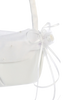 Satin Flower Girls Basket with Pearl Beaded Organza (FB7)
