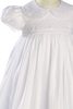 Embroidery & Lace Handmade 100% Cotton Christening Gown (CA55GS)