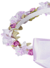 Lilac Silk Floral Crown Wreath w Satin Ribbons Girls (HB007)