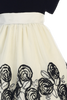 Black Velvet, Ivory Tulle, Satin Flowers Girls Christmas Holiday Dress (C989)