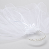 Crystal & Rhinestone Tiara w White Veil First Communion (Veil015)