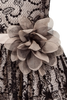 BLACK/CHAMPAGNE - Flower Pin FL003