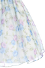 Blue Vintage Floral Print Organza Organza Girls Dress (199)