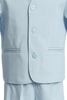 Light Blue Eton Jacket & Shorts Spring Outfit 4 Pc Suit (Baby or Toddler Boys)