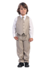 Khaki Tan Single Breasted Dress Suit 5 Piece Boys (3710)