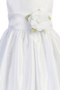 Girls Polysilk Communion Dress w. Organza Sash 6-14