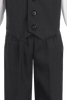 Dark Charcoal Grey Vest & Pleated Pants Outfit 4 Piece Suit (Baby 6 months - Boys Size 14)