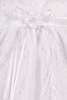Floral Lace Tulle Overlay Christening Dress with Empire High Waist - Baby Girls Newborn - 18 months