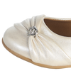 Ivory Dress Shoes with Heart & Velcro Strap Baby Girls (WENDY)