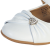White Dress Shoes with Heart & Velcro Strap Baby Girls (Wendy)