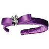 PURPLE Satin Headband with Crystal Centered Bow (F-35)