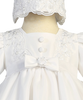 Satin & Embroidered Organza 2 Tier Christening Dress (2190)