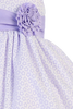 Lilac Shantung w Floral Burnout Cotton Overlay Dress Girls 3M-7