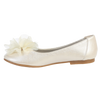 Ivory Dress Shoes with a Rhinestone Center Flower Girls (LUCY)