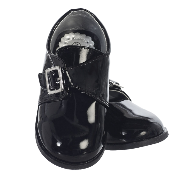 Black Patent Dress Shoes with Velcro