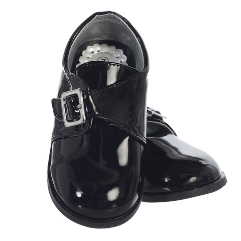 Black Patent Dress Shoes with Velcro Strap Toddler Boys (Ryder)