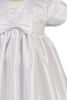 Satin & Embroidered Lace Girls Christening Gown 0-18m