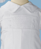 Pin Tucked & Smocked 100% Cotton Handmade Christening Romper Outfit (CB938R)
