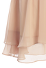 Girls Champagne Chiffon Shift Dress with Satin Trimmed Yoke Bodice  KD255