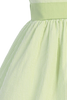 Green Cotton Seersucker Dress w PolySilk Sash (Baby 6 months - Girls Size 12)