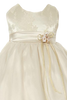 Floral Jacquard & French Mesh Baby Girls Occasion Dress (156)