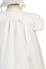 Girls Organza Christening Gown w. Embroidery & Ribbon Trim 2210