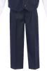 Navy Blue Vest & Pleated Pants Outfit 4 Piece Suit (Baby 6 months - Boys Size 14)
