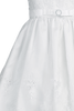 Floral Embroidered Organza Girls Communion Dress w. Sequins 5-14
