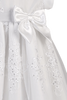 Embroidered Organza Overlay & Satin Trim Christening Gown - Baby Girls Newborn - 18 months