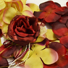 BURGUNDY Flower Petal Set