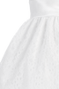 White Satin w Floral Lace Tulle Overlay Easter Spring Dress (Girls Size 5 - 10)