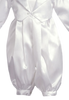 White Satin Baby Boys Christening Coverall w. Attached Vest & Hat  8110