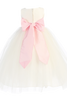 BACK OF WHITE DRESS WITH PINK SASH (BL228)