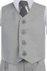 Boys Light Grey 4-pc Vest & Trousers Dresswear Set  8570