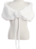 Plush Fur Shoulder Wrap in White, Black or Ivory Girls (KD232)