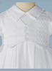 Cotton Knit Romper Christening or Celebration Outfit (WF235R)