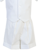 Shorts & Striped Vest 5 Pc PolyCotton Christening Outfit (Peter)