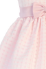 Pink Satin & Burnout Organza Overlay Easter Spring Dress (Baby 6 months - Girls Size 12)