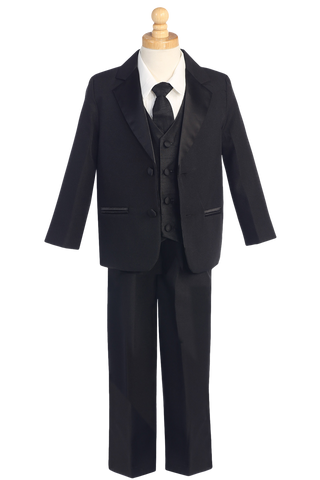 Black, White or Ivory 2 Button Dinner Jacket Tuxedo Boys (7515)