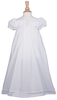 Embroidery & Lace 100% Cotton Handmade Christening Gown (CO78GS)