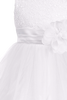 White Sequins, Satin & 2 Layer Mesh Girls Formal Occasion Dress (305)