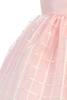 Girls Pink Shantung & Embroidered Organza Dress 6m-12