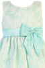 Mint Green Satin & Burnout Organza Overlay Easter Spring Dress Girls (M729)